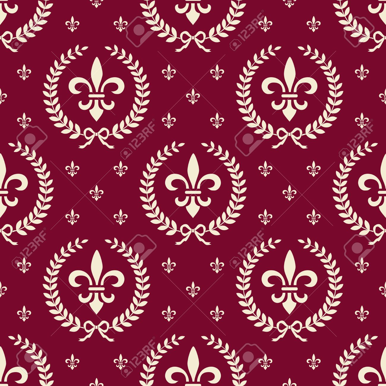 Red royal seamless textile pattern Stock Vector - 9930277