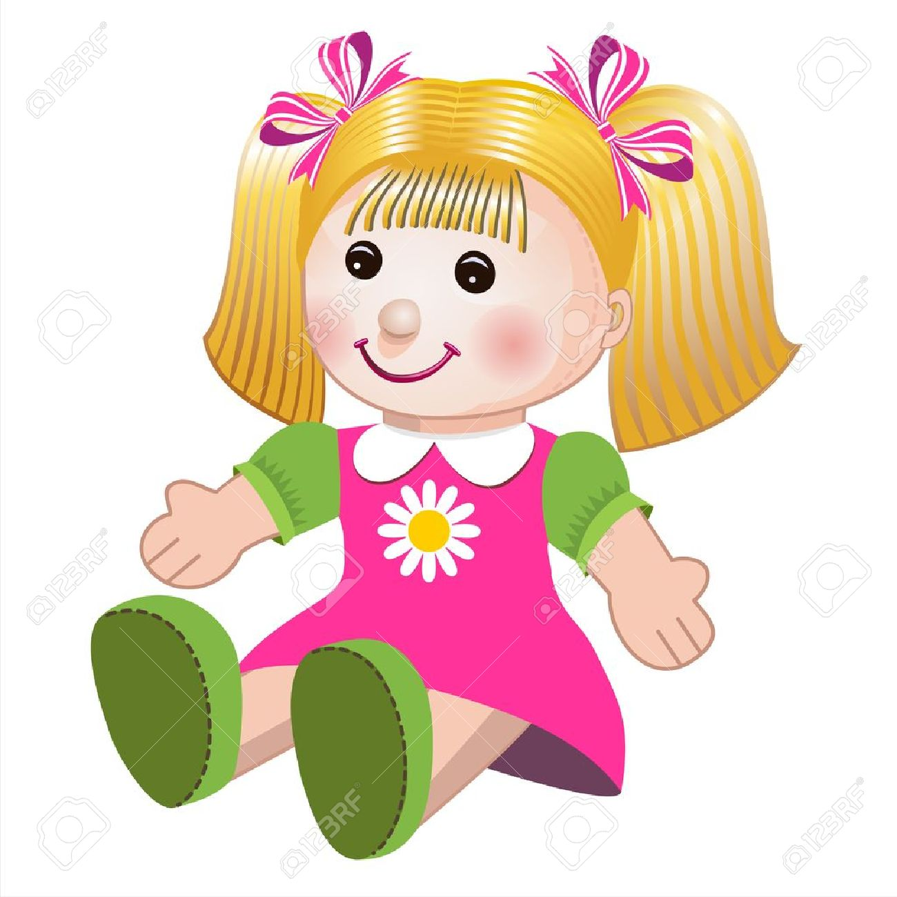 Vector illustration of girl doll - 10825224