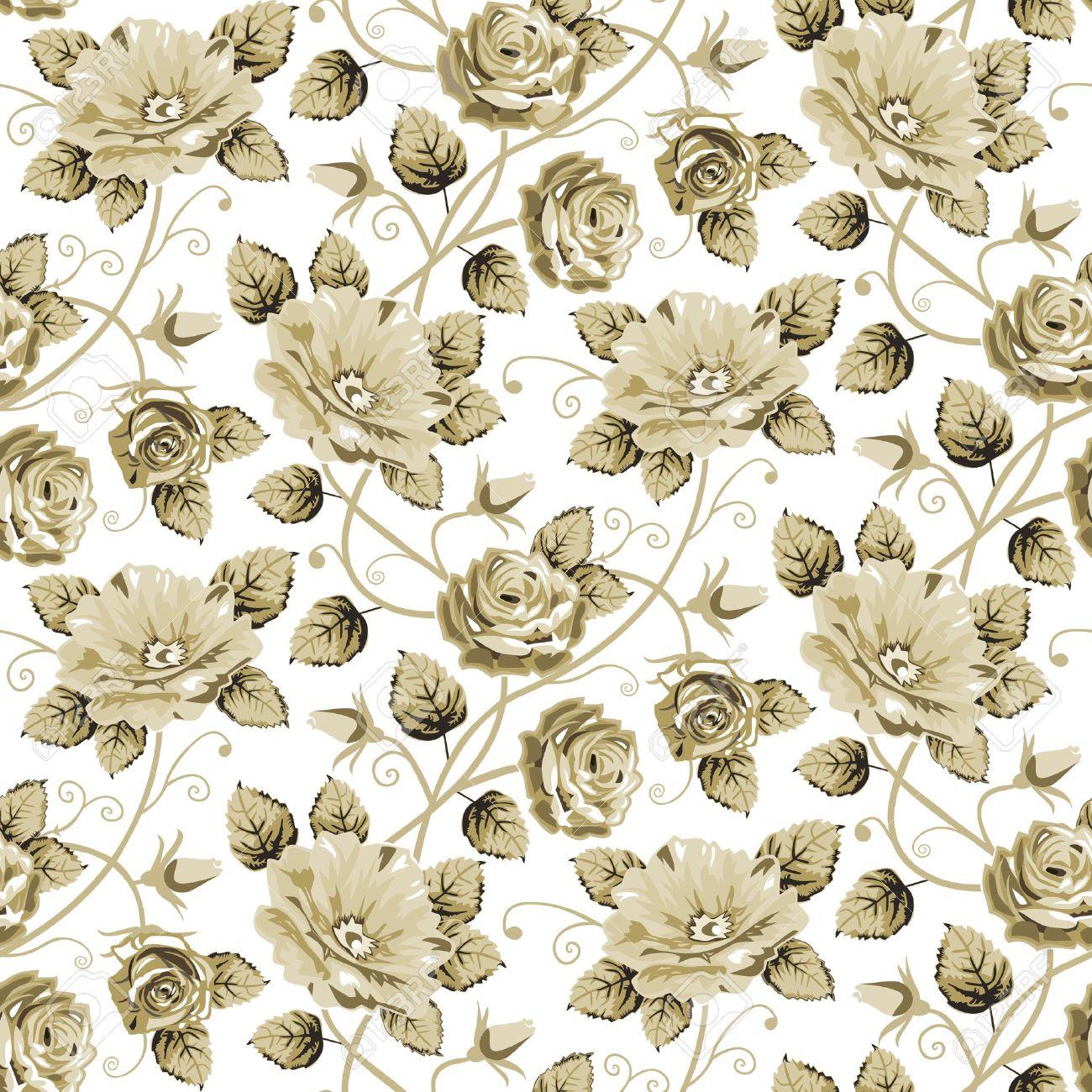Retro floral pattern Stock Vector - 12274712