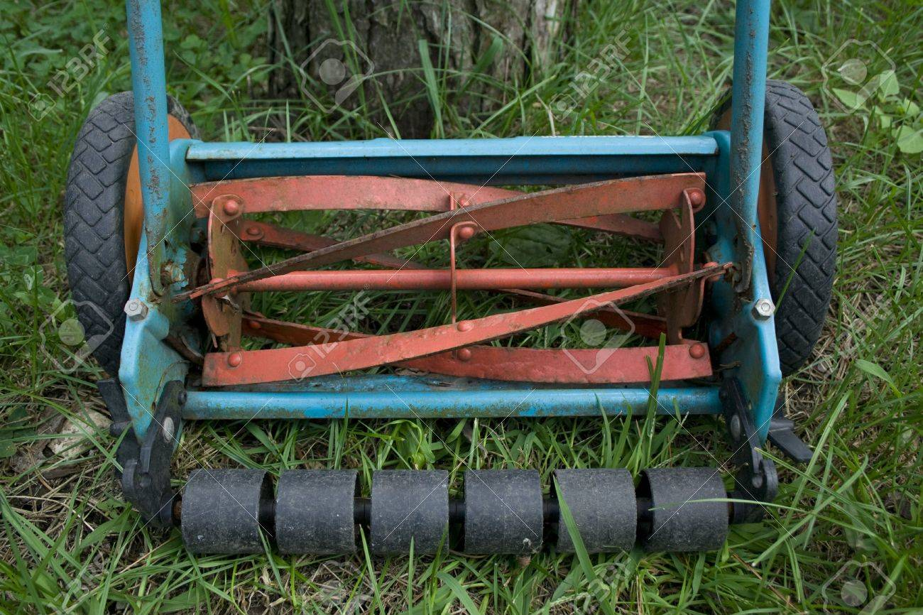Part of manual lawnmower Stock Photo - 7813182
