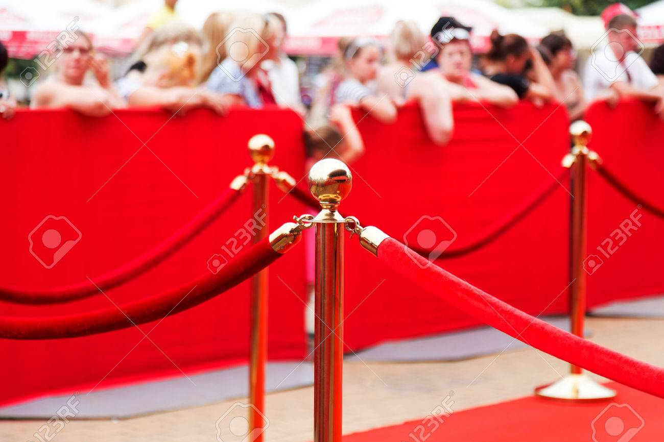 Way to success on the red carpet (Barrier rope) - 41339734