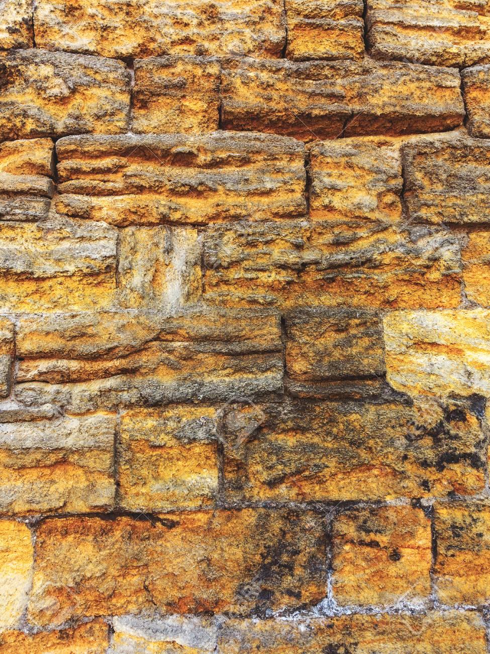 Standard Bild   Wand Aus Naturstein . Kann Als Hintergrund Verwendet Werden  . Großer Hintergrund Oder Textur