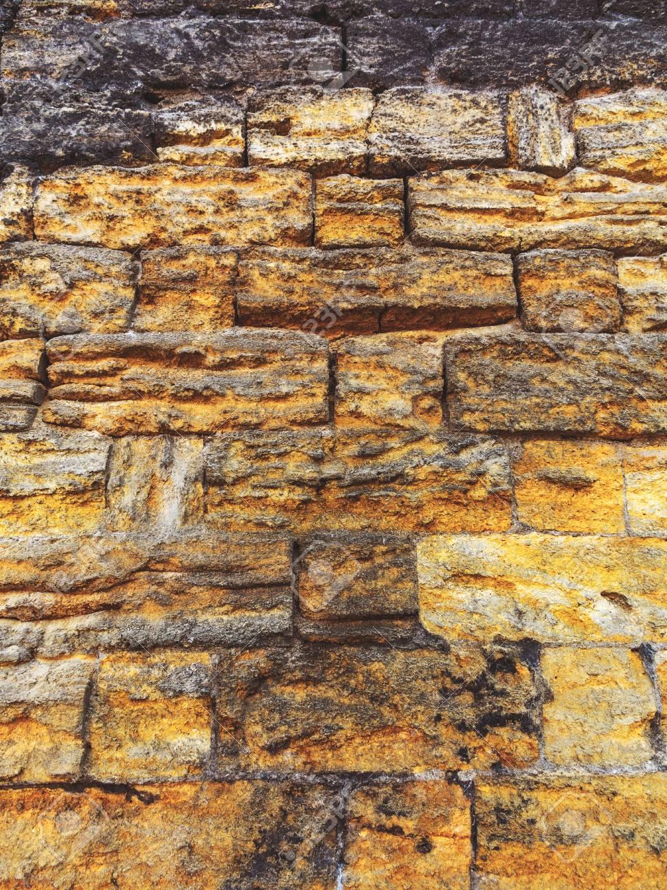 Standard Bild   Wand Aus Naturstein Gebaut. Kann Als Hintergrund Verwendet  Werden. Große Hintergrund Oder Textur.