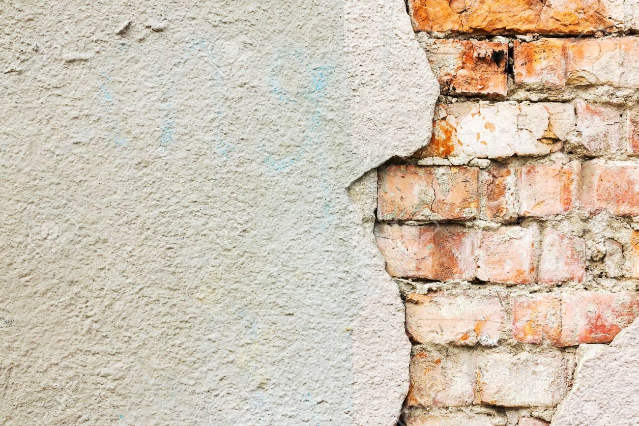 Immagini Stock Sfondo Strutturato Di Un Vecchio Muro Di Mattoni