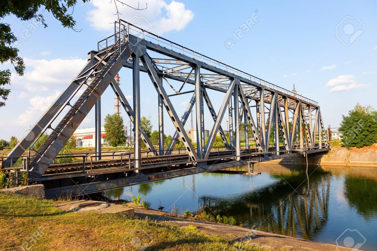 Puente Ferroviario Sobre El Río Pripyat Chernobyl Estructura Metálica Soportes Para Puentes Puente Años Más Tarde Después De La Central Nuclear