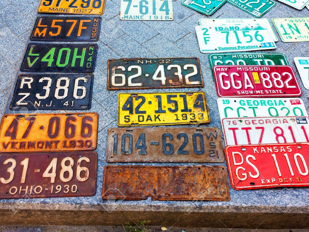 Odessa Ukraine Circa 2017 Car Numbers From Around The World Stock Photo Picture And Royalty Free Image Image 85598696