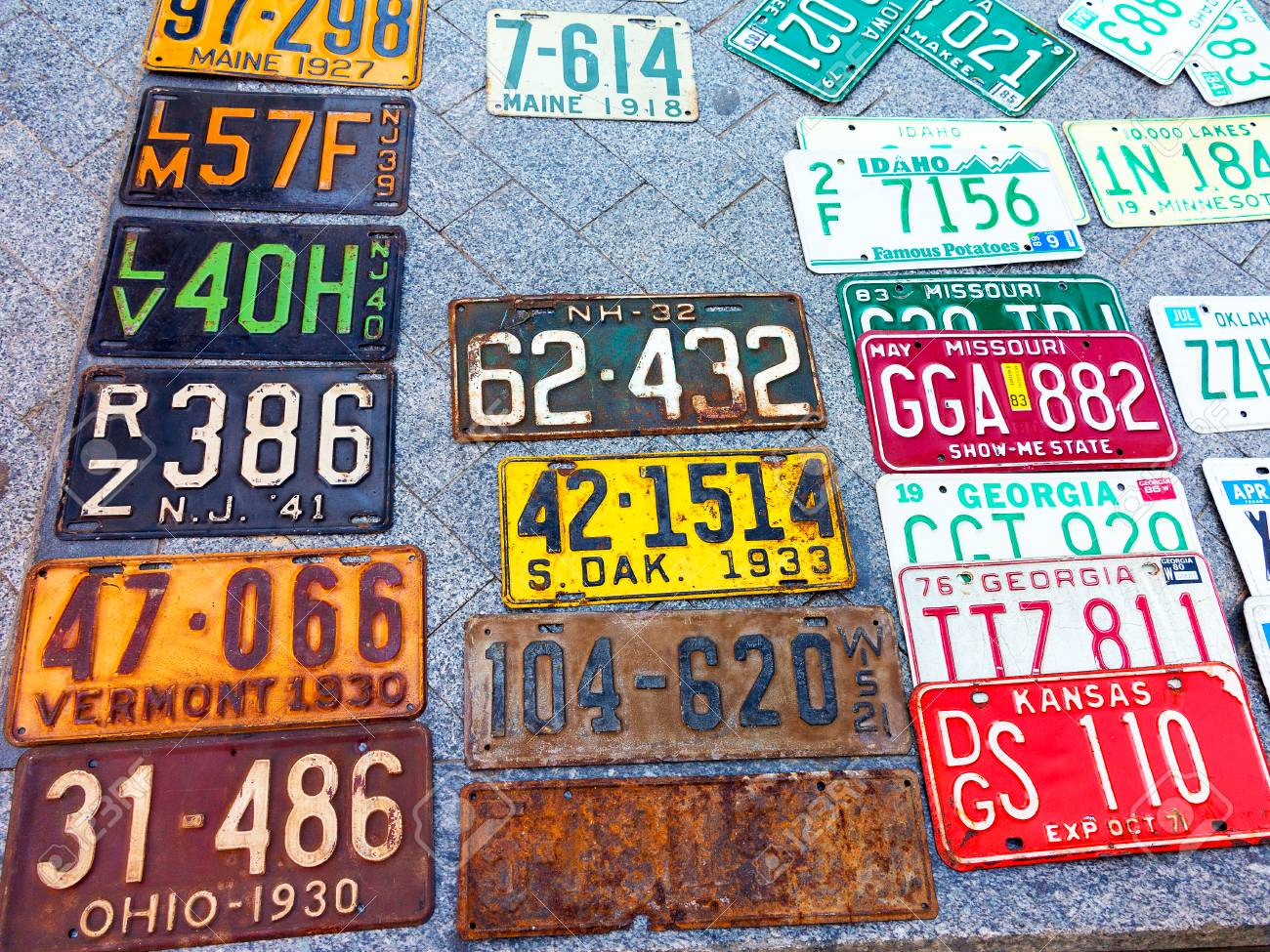 Odessa Ukraine Circa 2017 Car Numbers From Around The World Stock Photo Picture And Royalty Free Image Image 85598697