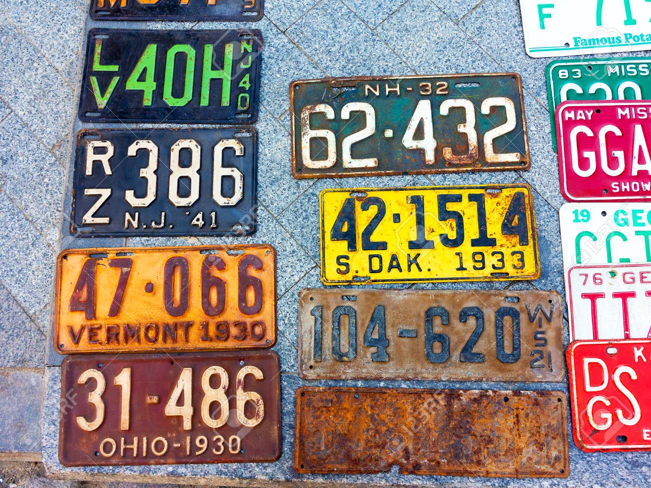 Odessa Ukraine Circa 2017 Car Numbers From Around The World Stock Photo Picture And Royalty Free Image Image 85596994