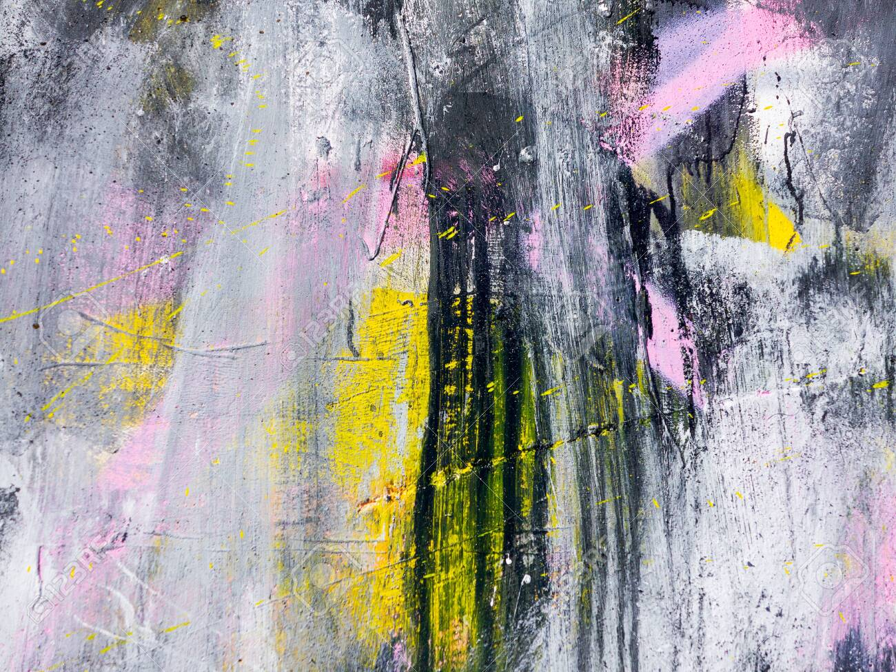 Rough Paint Dripping Spray Paint Artwork Abstract Background