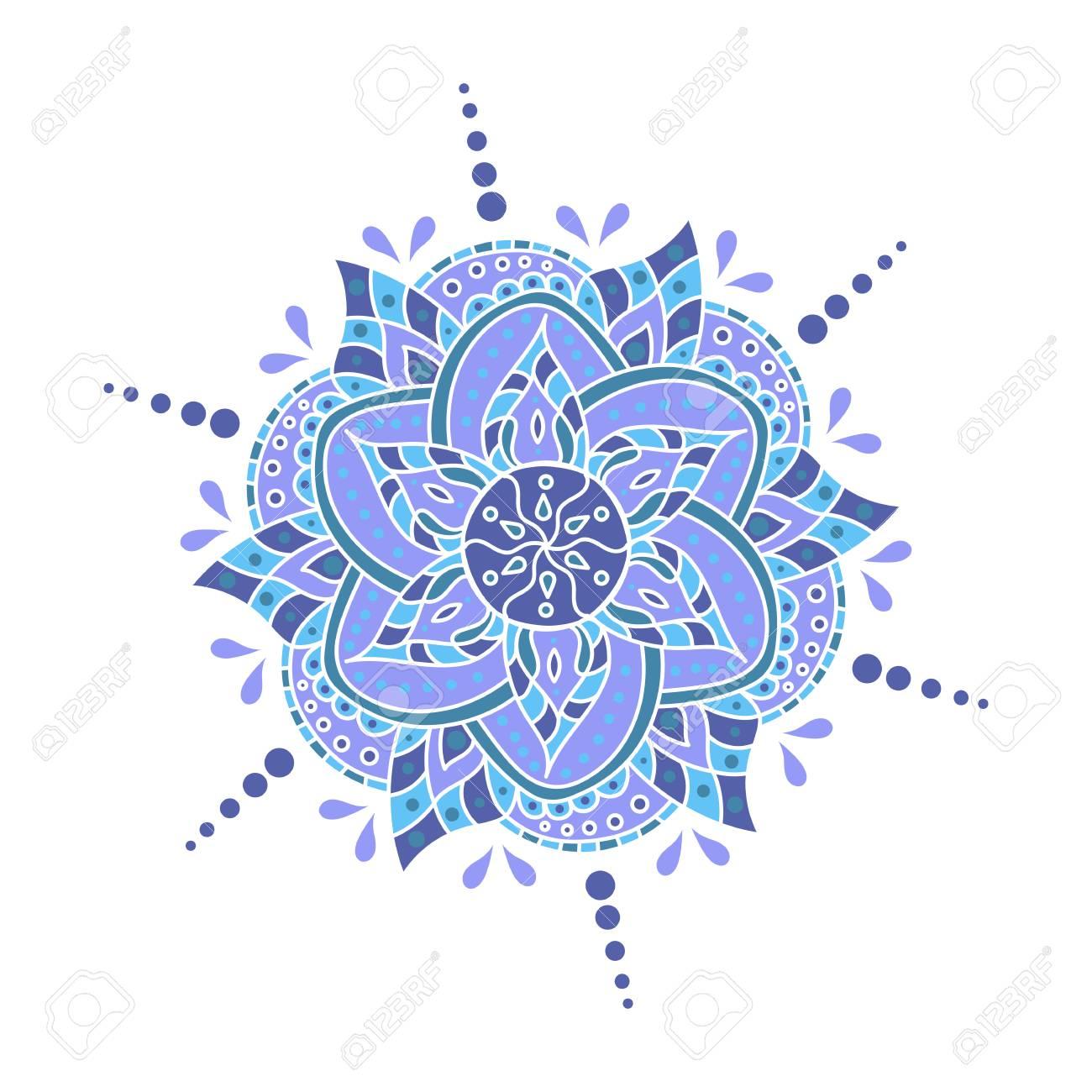 vector mandala round ornament traditional indian symbol islamic