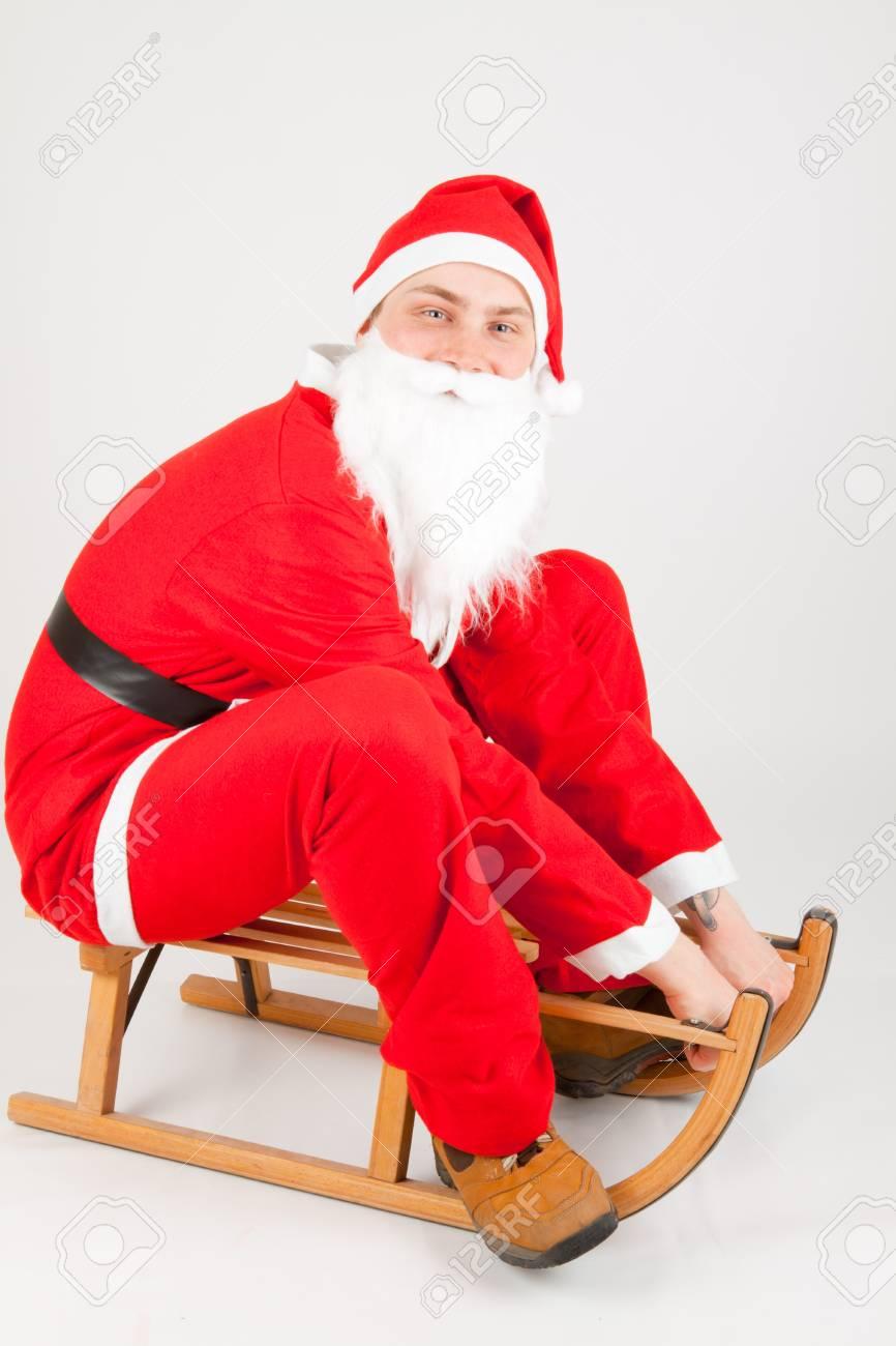 Santa Claus on his sled Stock Photo - 8261827