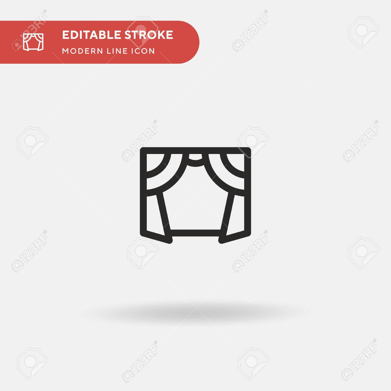 Curtains Simple vector icon. Illustration symbol design template for web mobile UI element. Perfect color modern pictogram on editable stroke. Curtains icons for your business project - 151290475