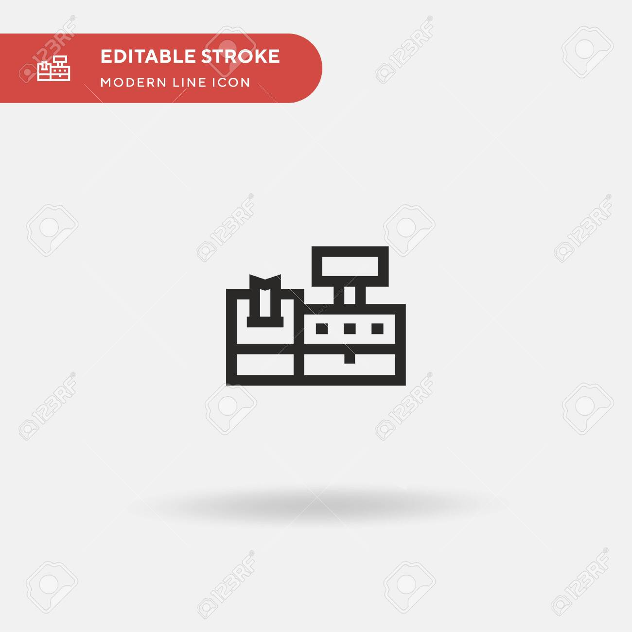 Cash Register Simple Vector Icon Illustration Symbol Design Royalty Free Cliparts Vectors And Stock Illustration Image 151777426