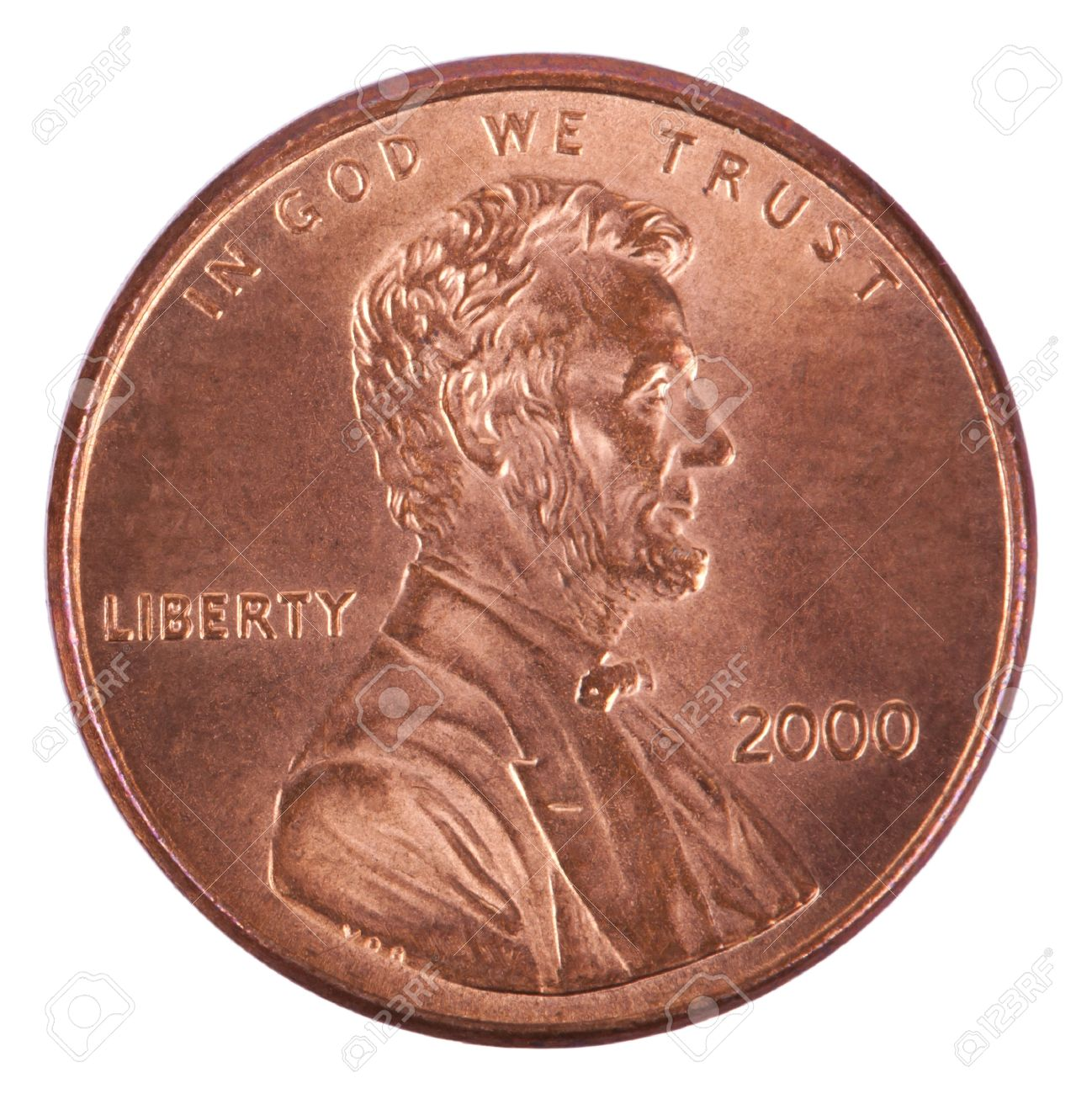 The Obverse Side Of A USA 1 Cent Penny Coin This Is Version