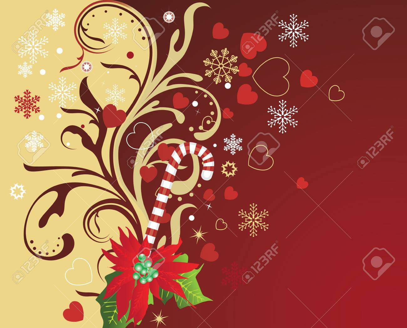 abstract christmas background Stock Vector - 7454082