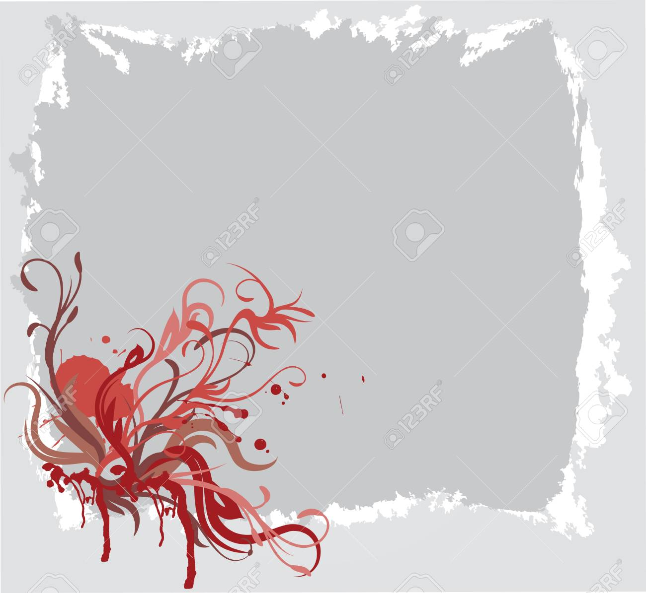 abstract floral background with place for your text Stock Vector - 7454070