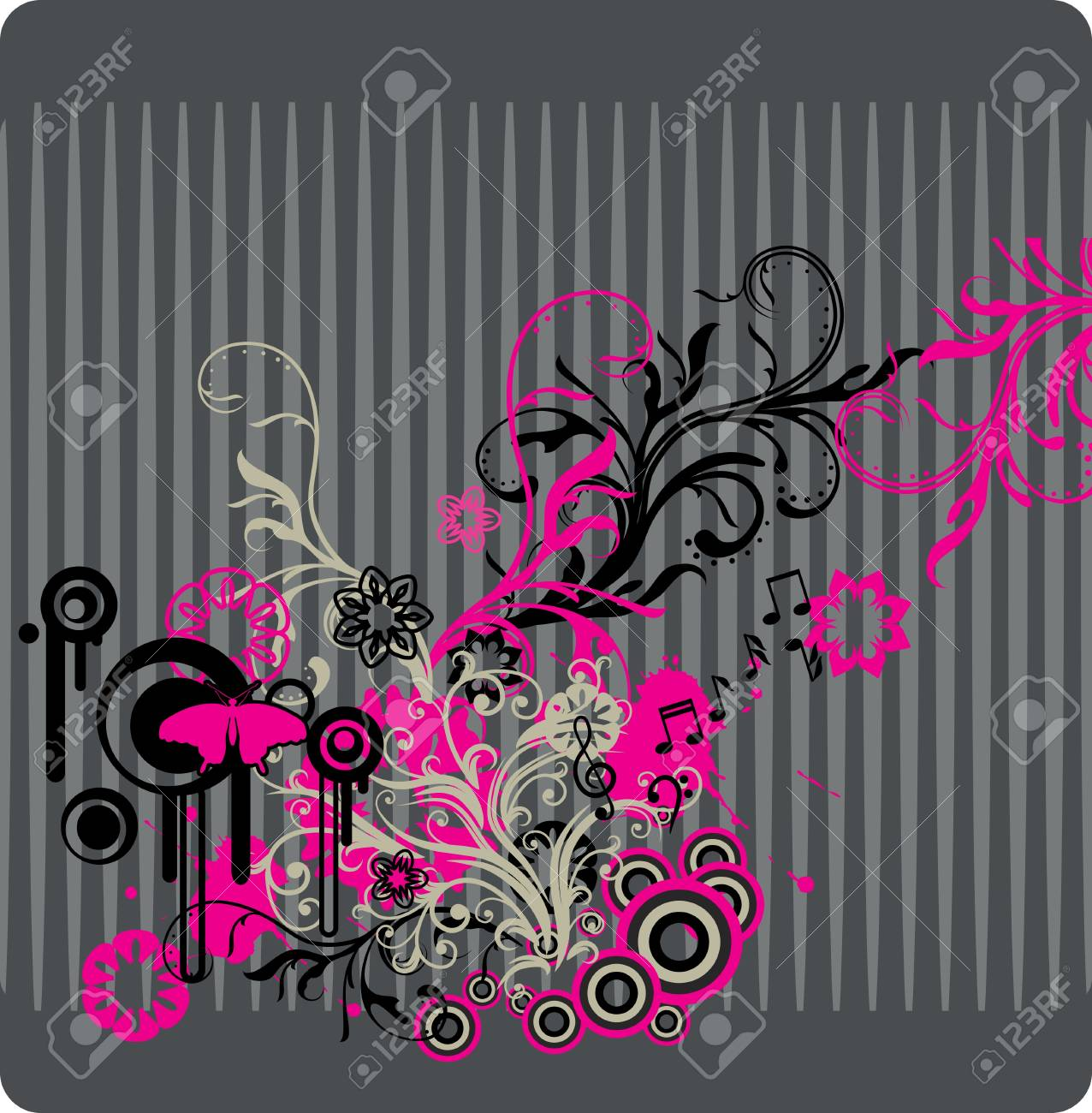 abstract floral background with place for your text Stock Vector - 7454057