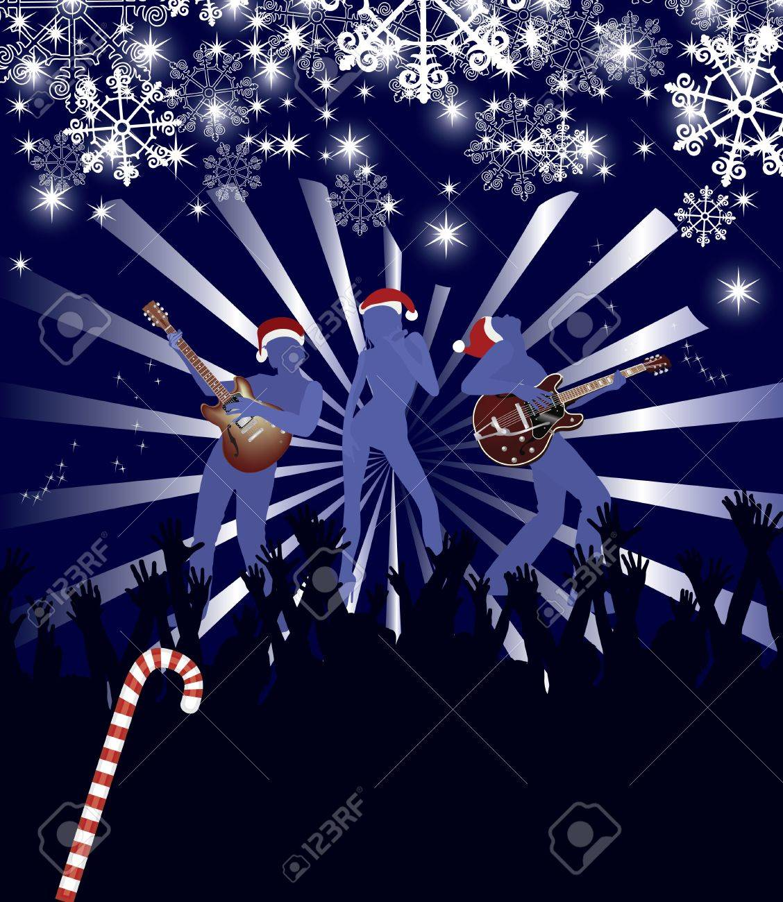 Abstract  Christmas Concert poster Stock Vector - 7454346