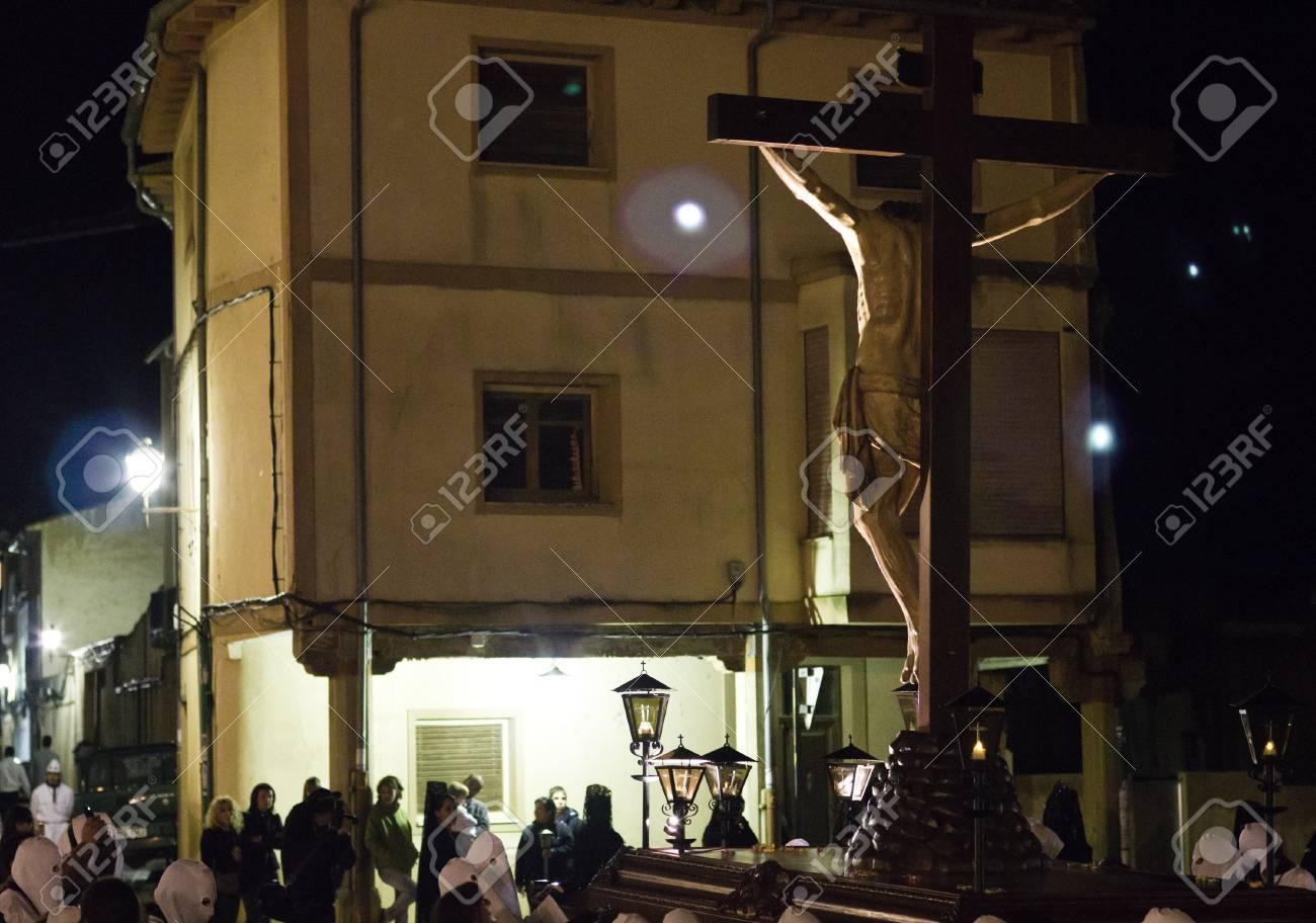 Medina de Rioseco, Spain - 22-04-2011 - Holy week Christ procession. Stock Photo - 10165370