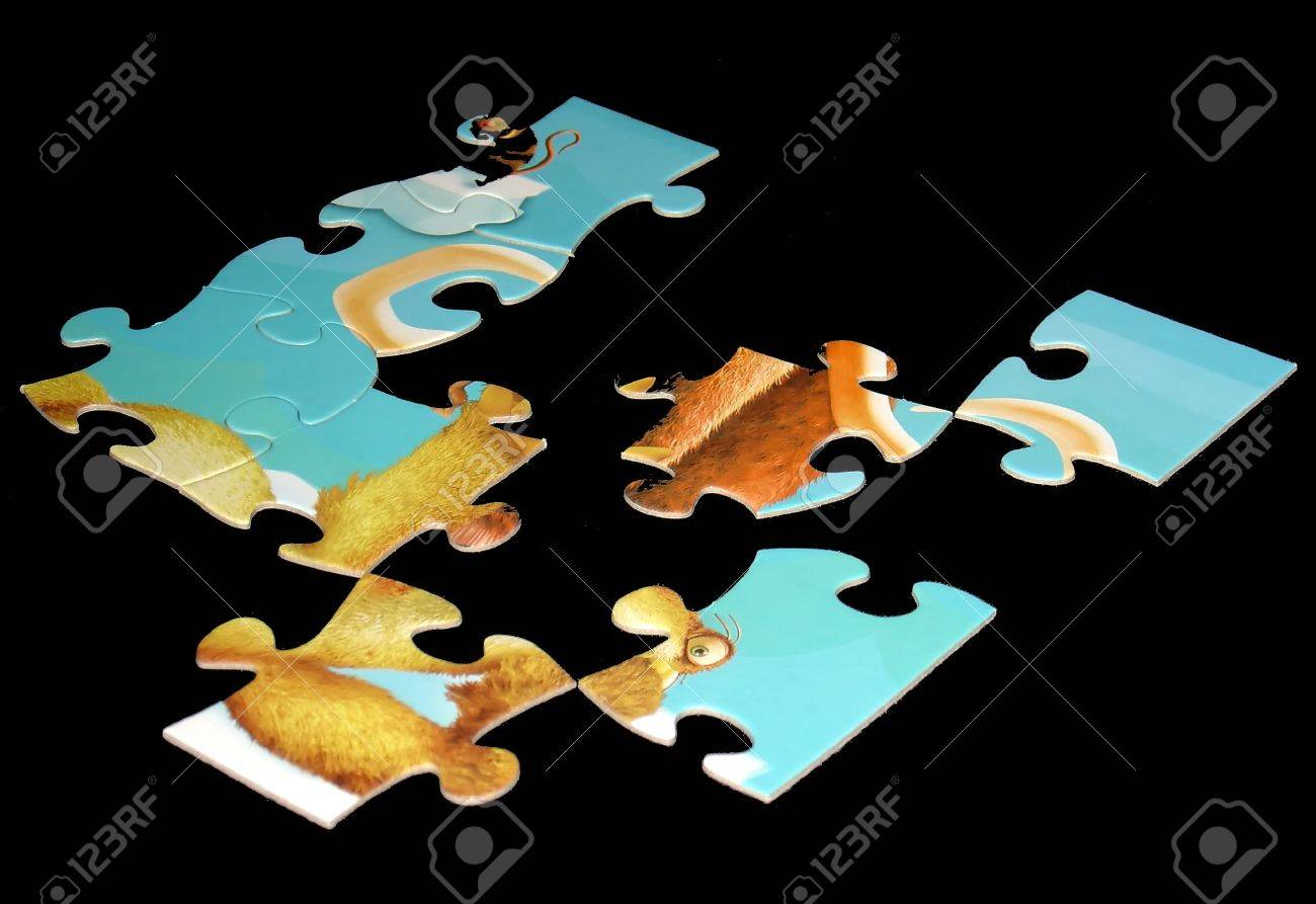 puzzle with missing pieces Stock Photo - 546846