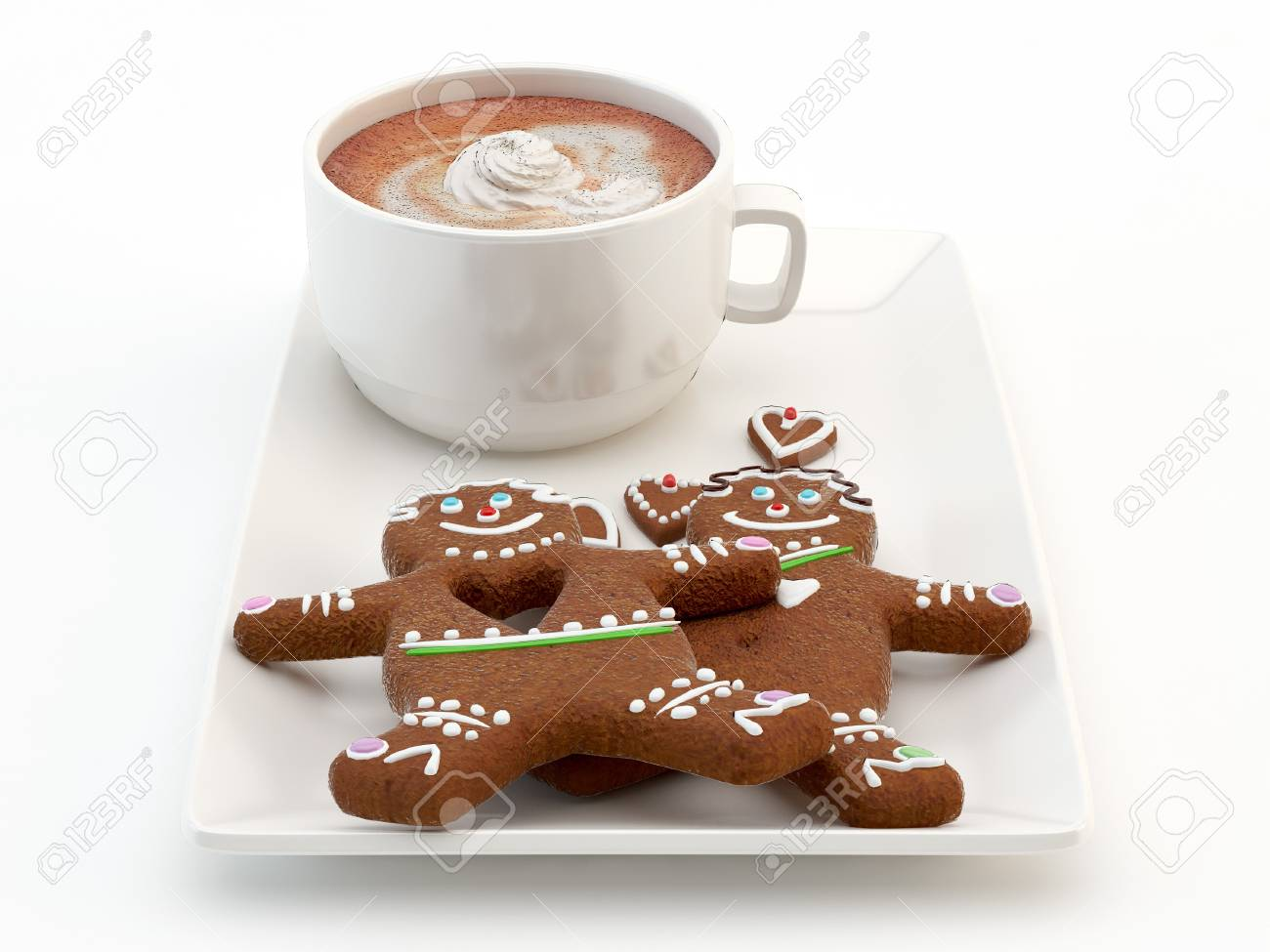Coffee and chocolate cake Stock Photo - 14584699