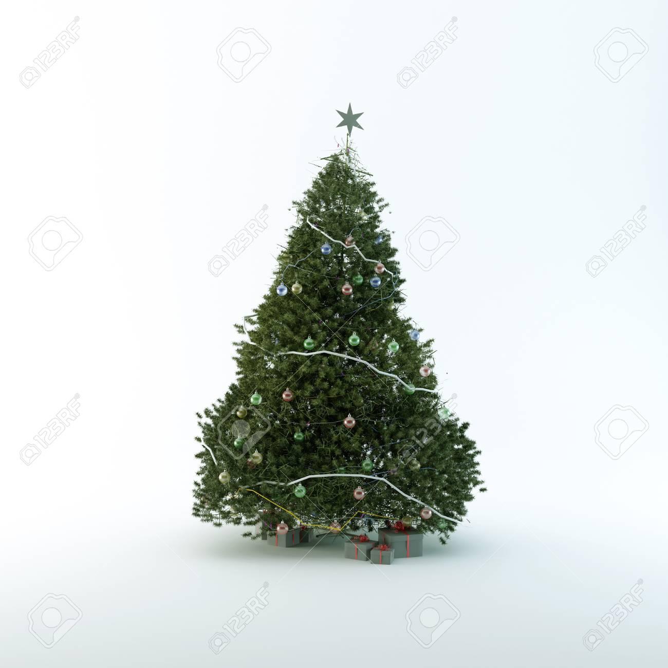 Christmas tree isolated on white background Stock Photo - 14745931
