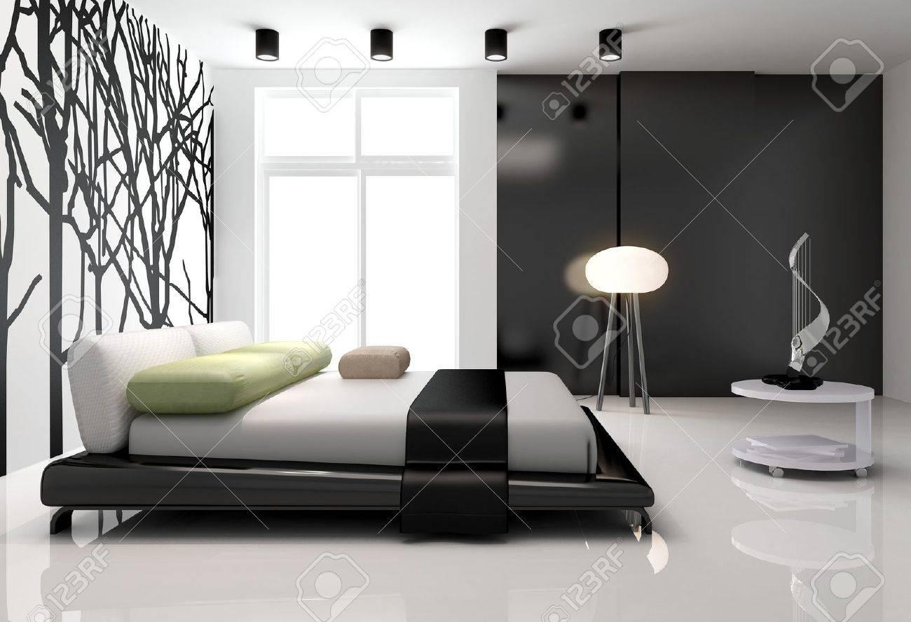 Minimalist bedroom interior Stock Photo - 14745930