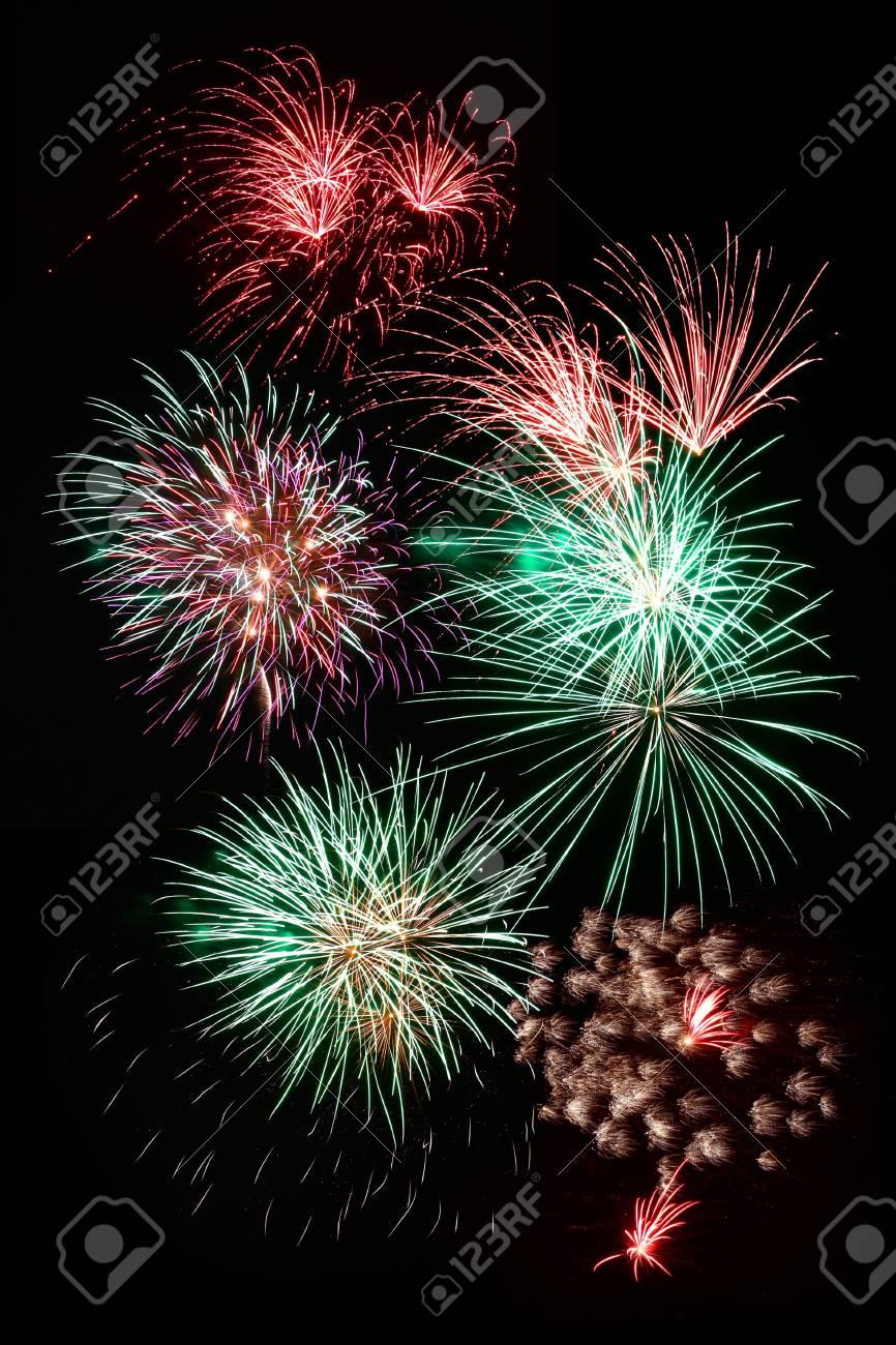 Fireworks exploding against night sky Stock Photo - 15058094