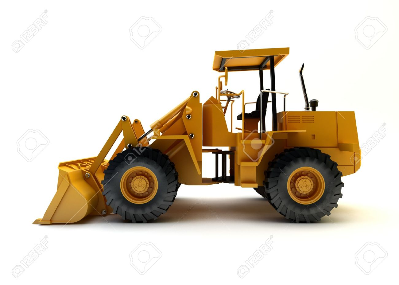 Front end loader isolated on white Stock Photo - 15058092