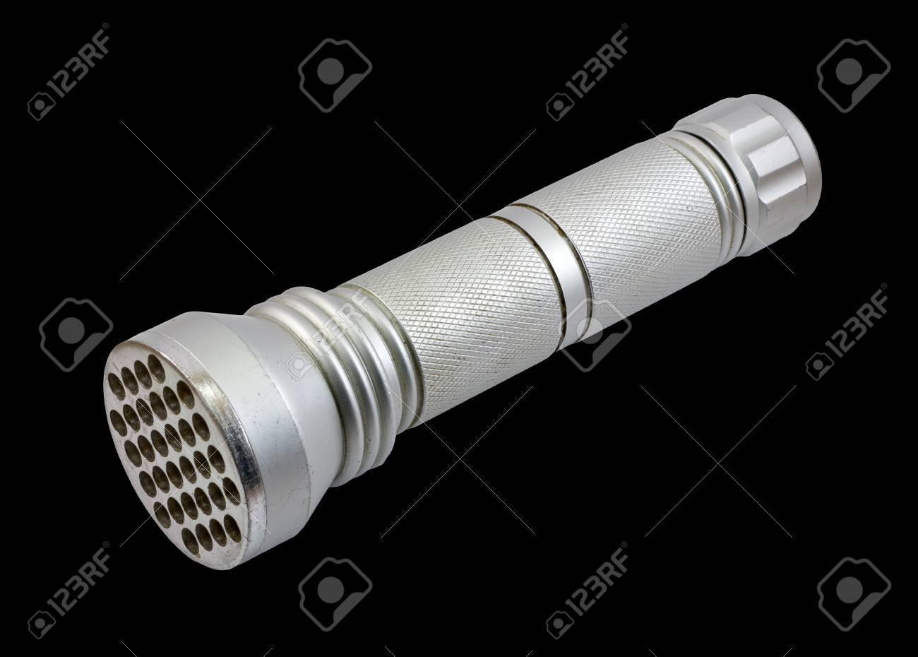LED flashlight isolated on a black background Stock Photo - 12415301