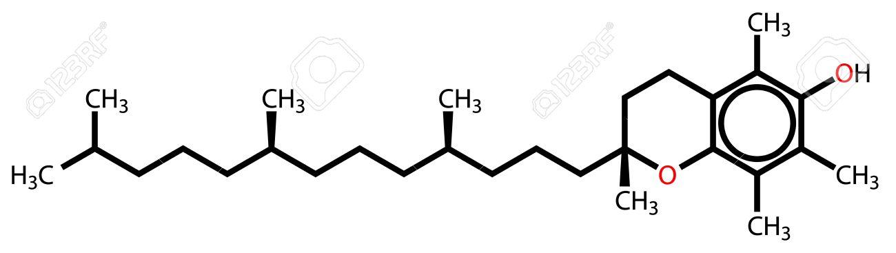 Alpha-tocopherol (vitamin E) structural formula Stock Vector - 12415255