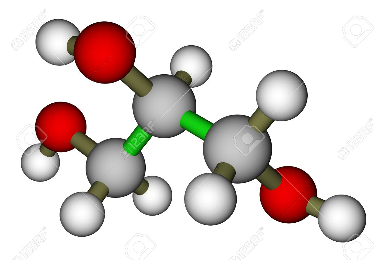 Glycerol (glycerin) Molecule Stock Photo, Picture And Royalty Free ...