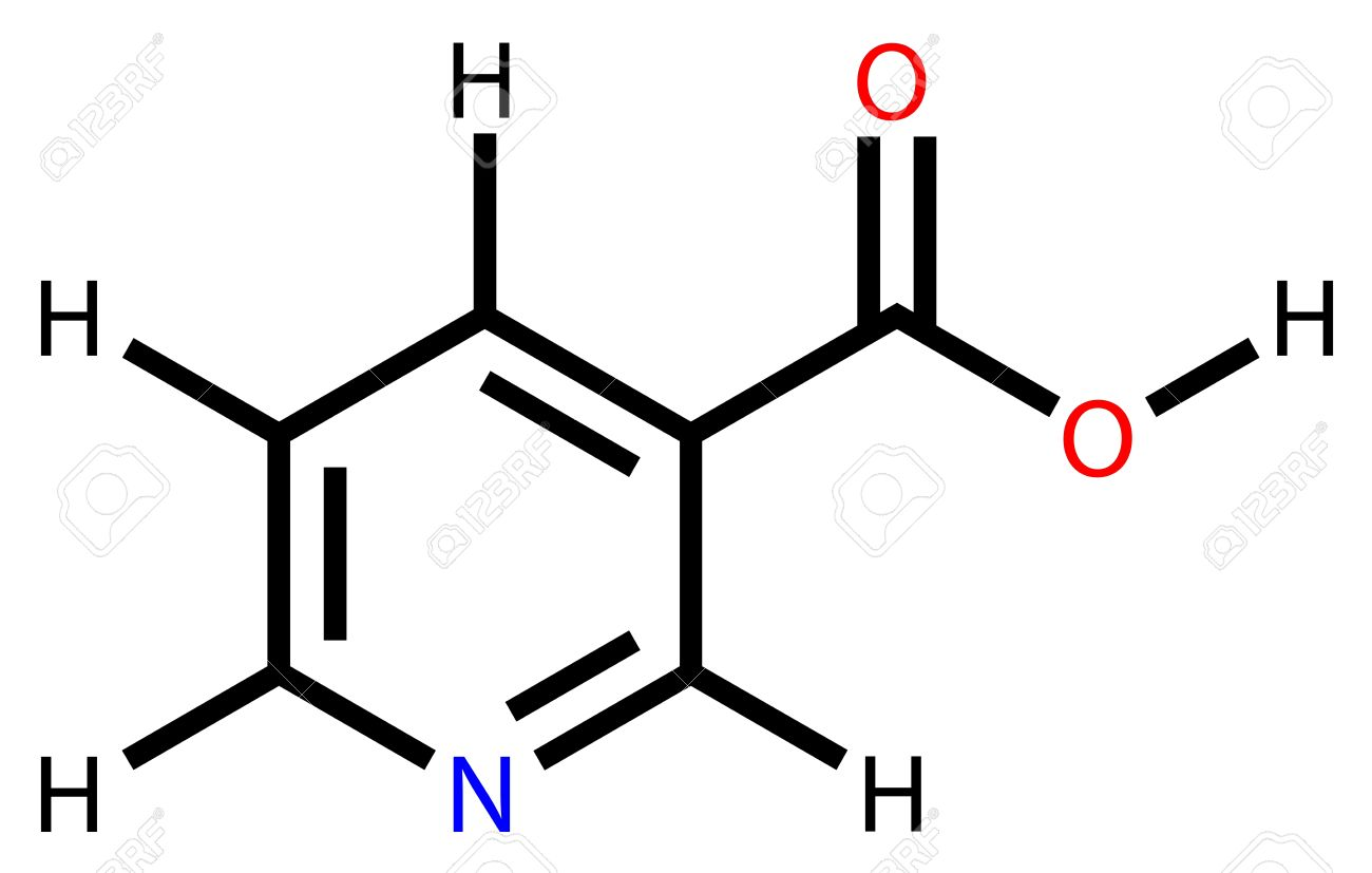 Niacin (vitamin B3 or PP) structural formula Stock Vector - 12416405