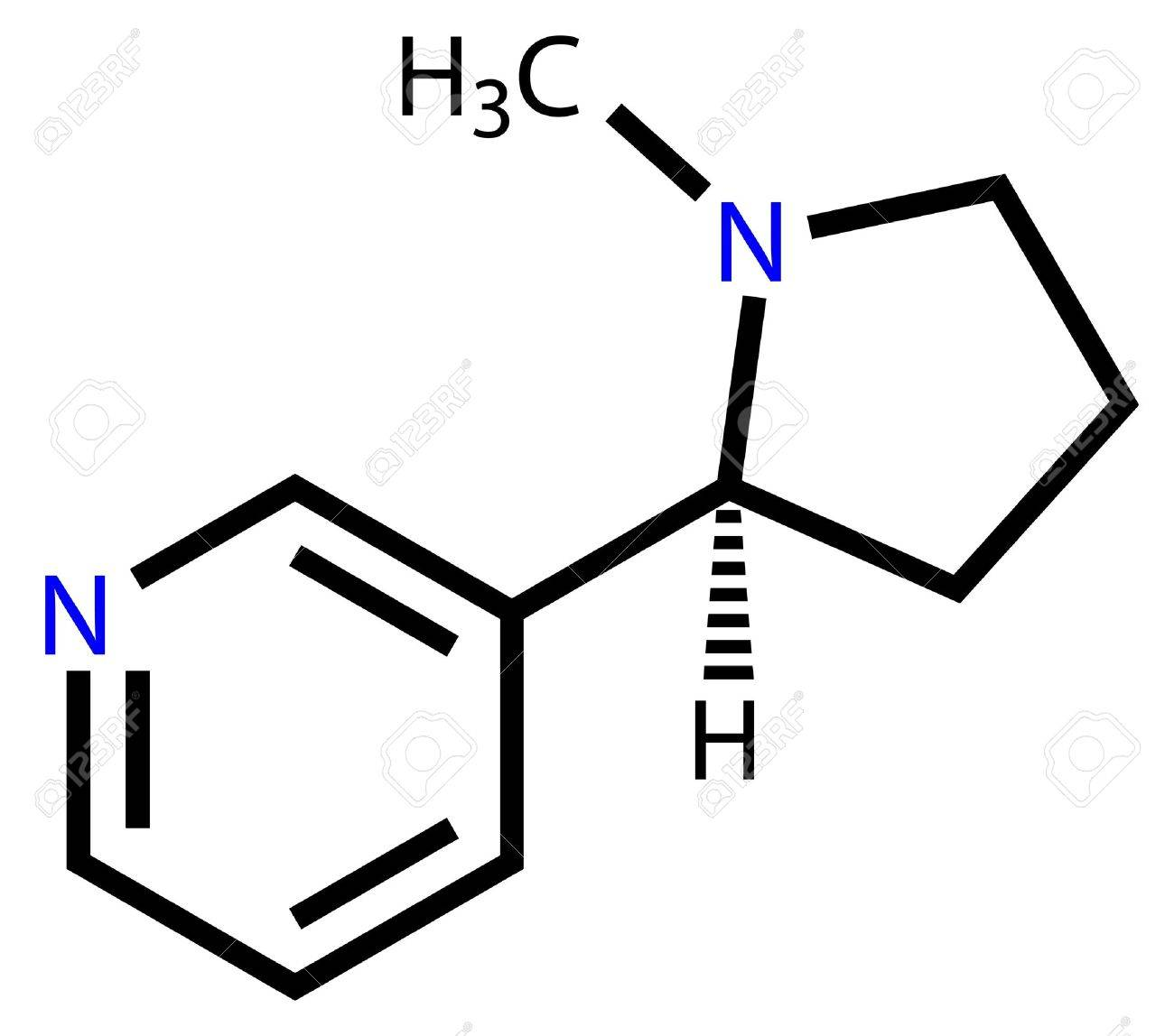 Nicotine structural formula Stock Vector - 12416422
