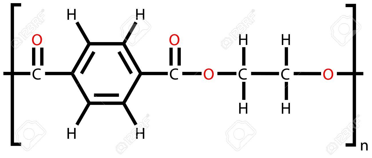 Polyethylene terephthalate (polyester, PET) structural formula - 12416415