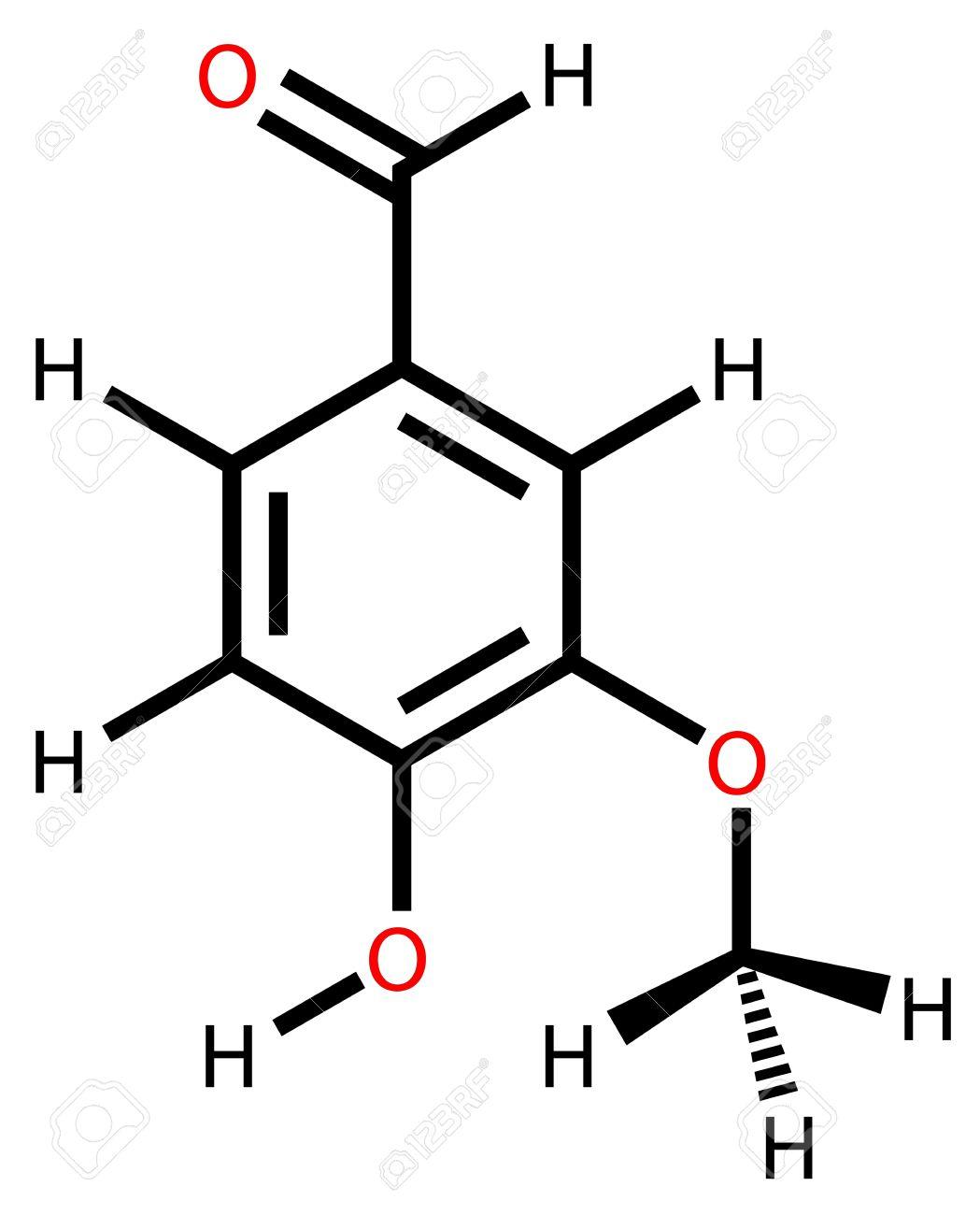 Structural formula of vanillin Stock Vector - 12416412