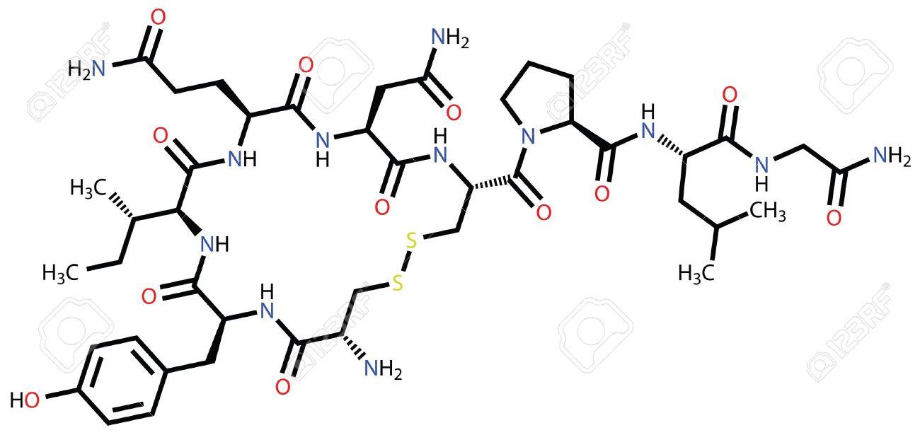 "Oxytocin ""love hormone"" structural formula - 12416464"