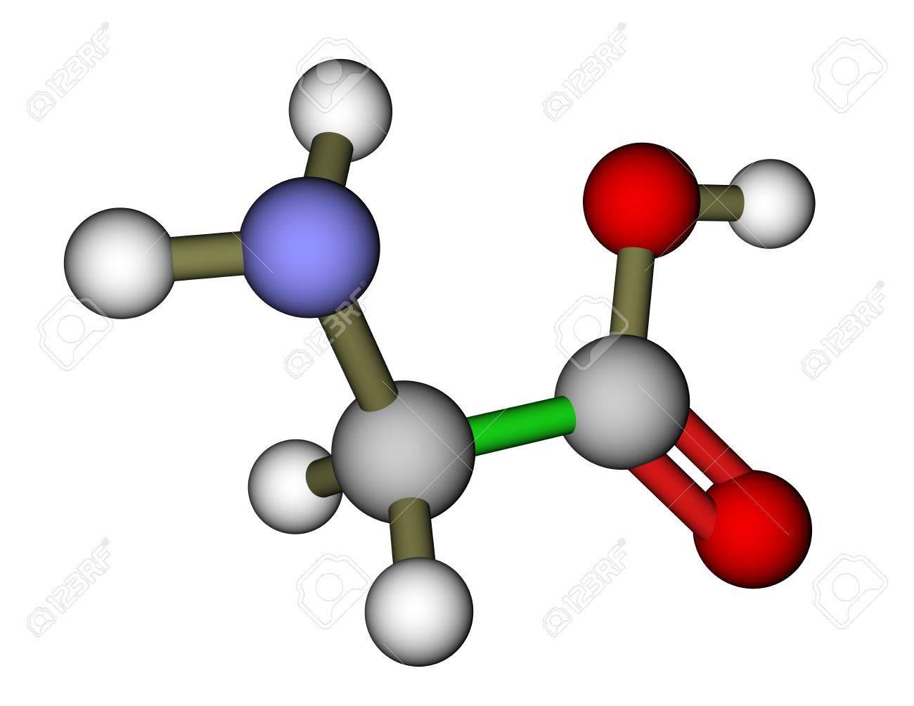 El Aminoácido Glicina Estructura Molecular