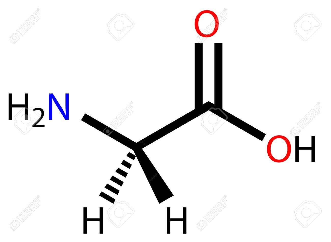 El Aminoácido Glicina Fórmula Estructural