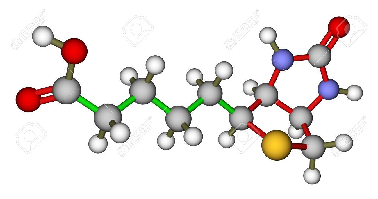 biotin vitamin h or b7 molecular structure stock photo picture