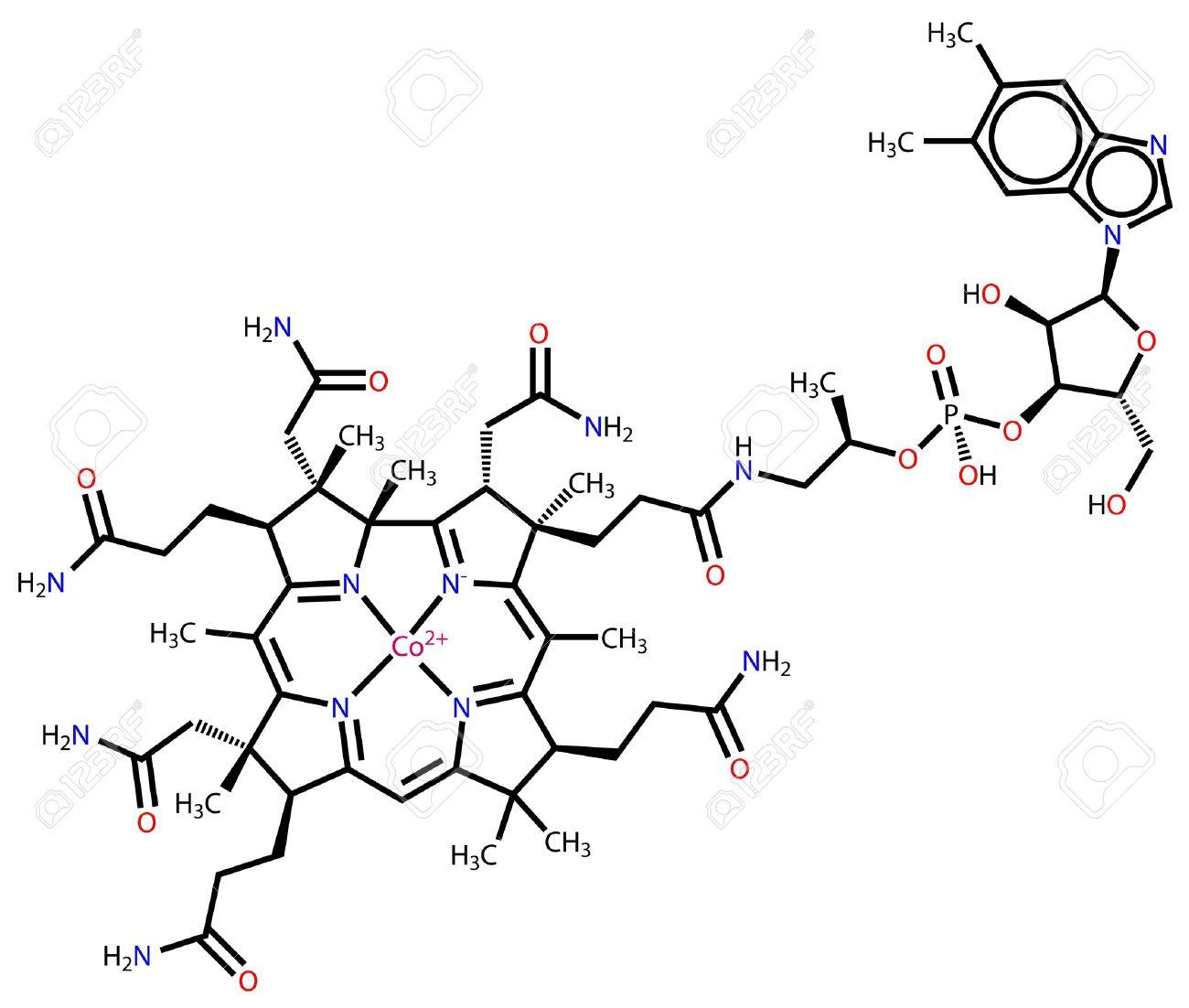 Vitamin B12 (cobalamin) structural formula Stock Vector - 12928466
