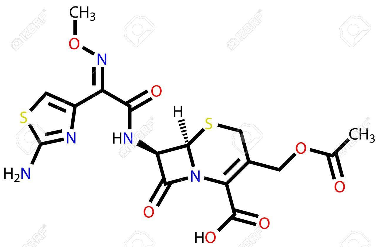 Cefotaxime, a cephalosporin antibiotic. Structural formula Stock Vector - 13186362