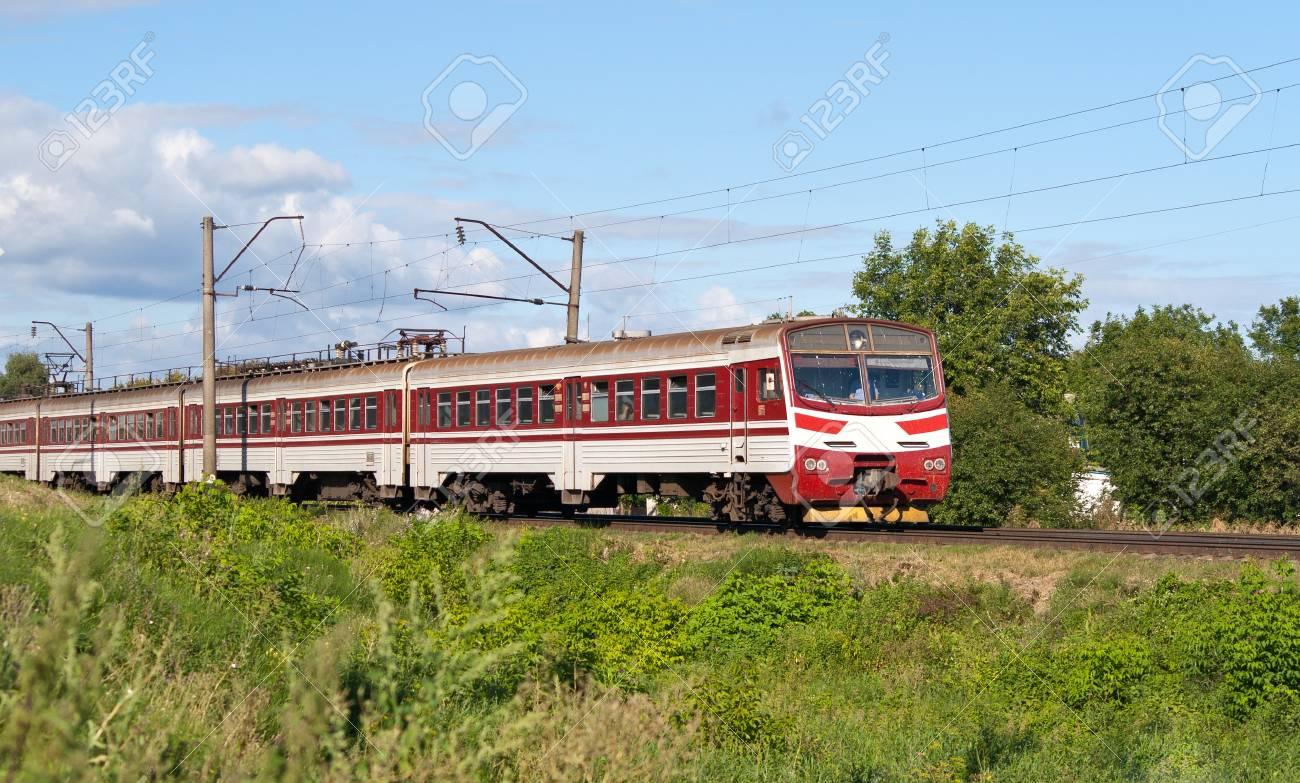Suburban electric train in Kyiv region, Ukraine Stock Photo - 13272481