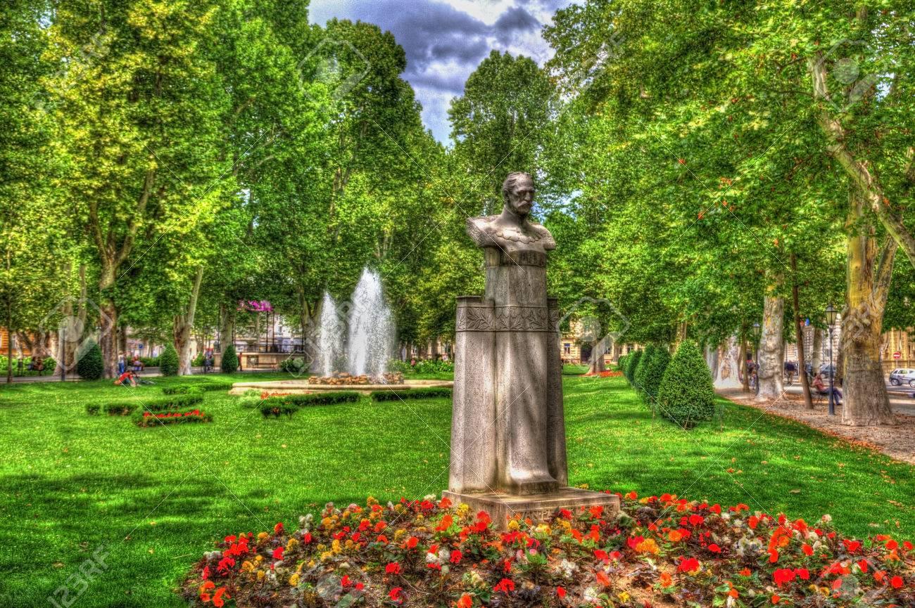 The Zrinjevac Park At The Nikola Subic Zrinski Square In Zagreb Stock Photo Picture And Royalty Free Image Image 33435750