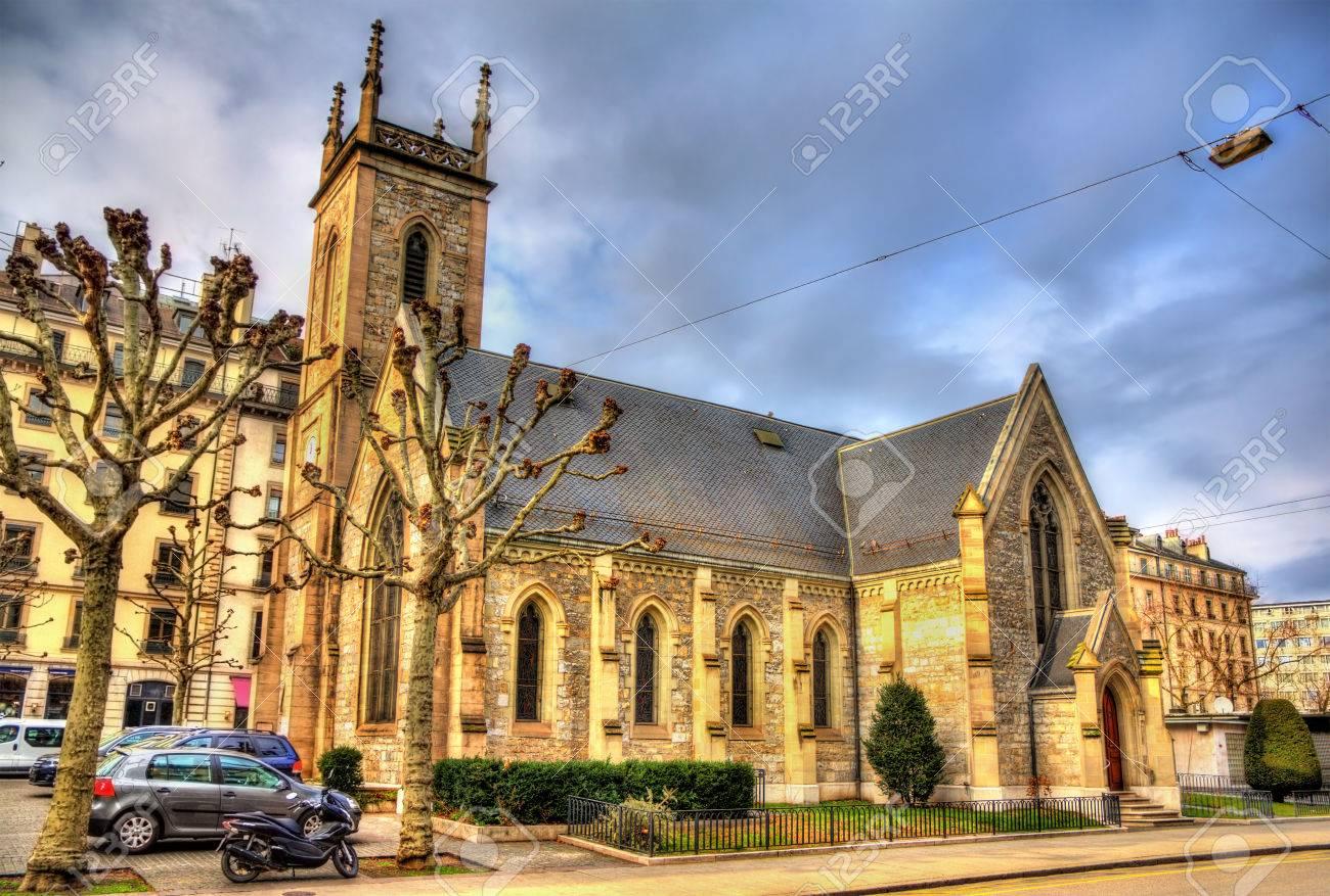 Engels Kerk Van De Heilige Drievuldigheid In Genève Zwitserland