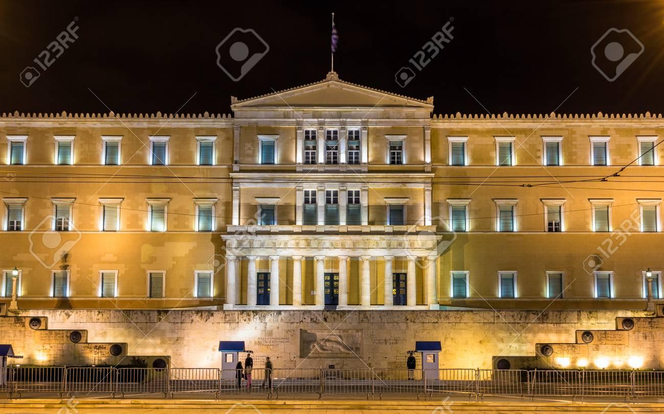 夜 - アテネ、ギリシャ ギリシャ...