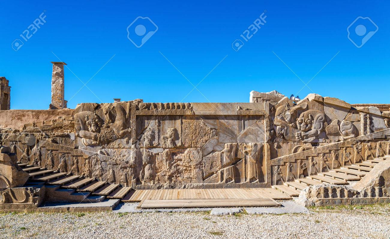 Ancient Persian Carving In Persepolis Iran Stock Photo Picture And Royalty Free Image Image 52492344