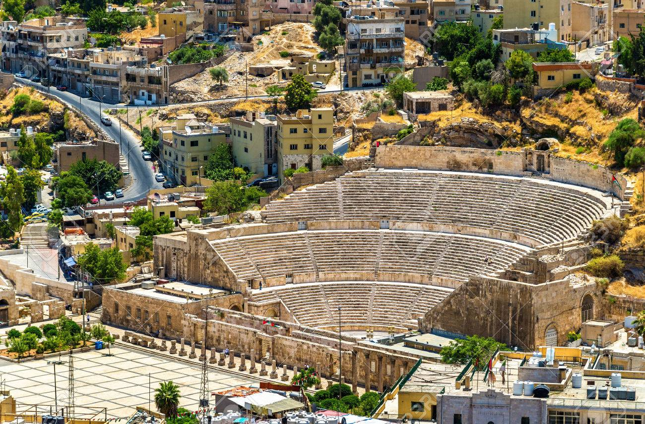 View On Roman Theater In Amman - Jordan Stock Photo, Picture And Royalty  Free Image. Image 62236268.