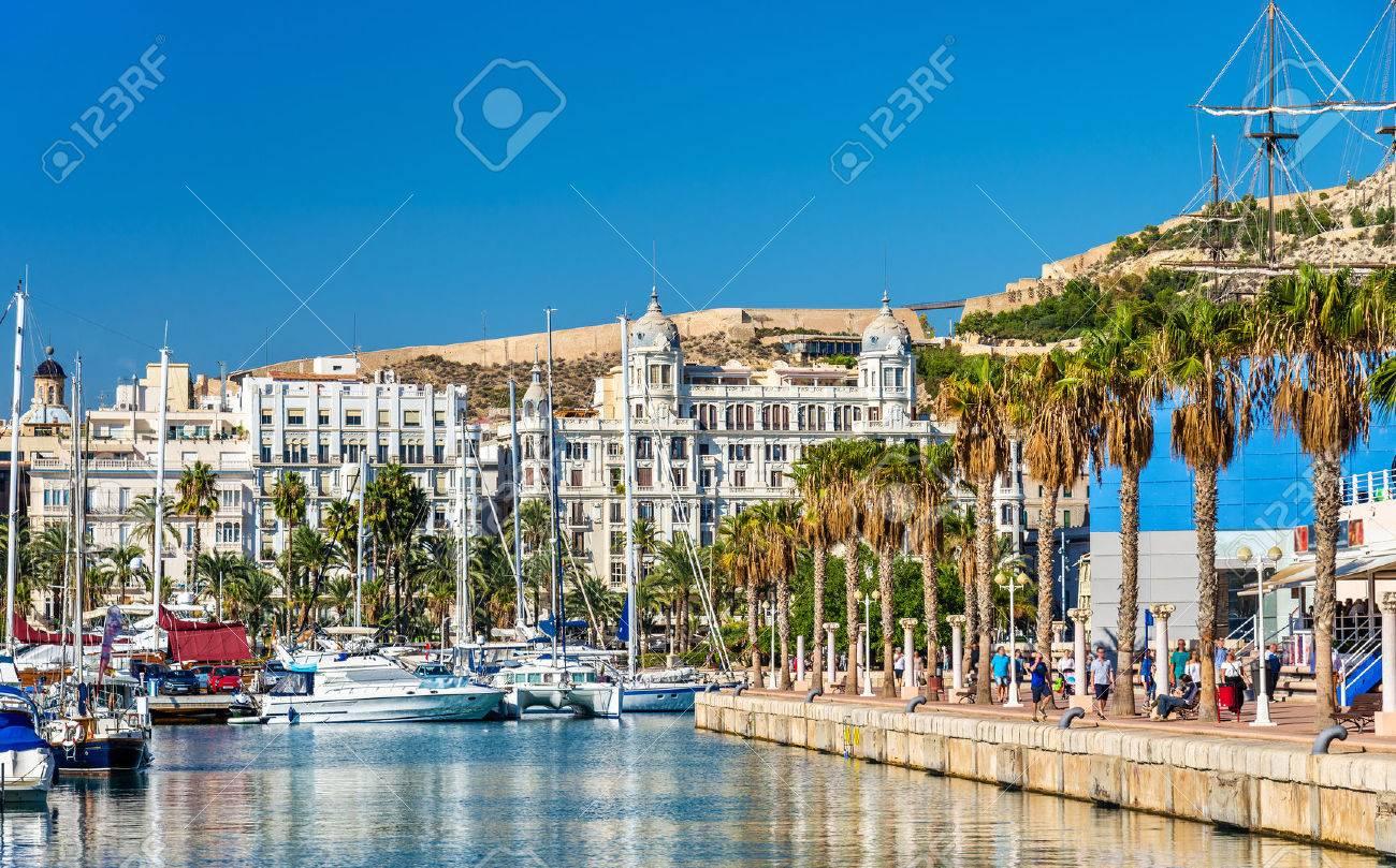 Promenade in the Marina of Alicante - Spain - 69656757