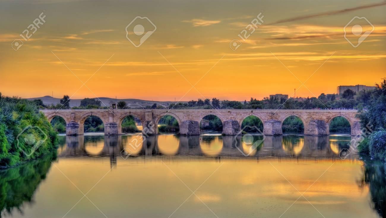 The Roman Bridge across the Guadalquivir river in Cordoba, Spain - 67456352